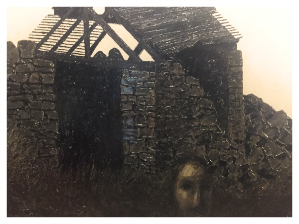 Derelict Barn with Figure, Jack Simcock