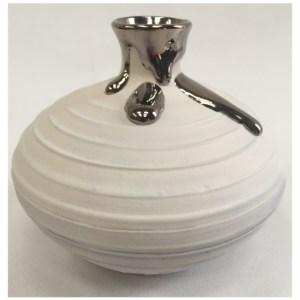 McCarthy, Alex ( ) Small Textured Vase with Platinum Lustre