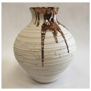 McCarthy, Alex ( ) Medium Textured Vase with Copper Lustre