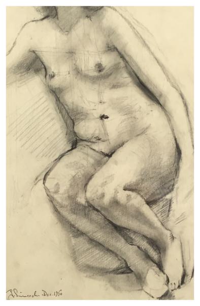 Simcock, Jack (1929-2012) Nude Study 1950 - Trent Art