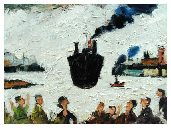 Stafford, Simeon (1956 – ) Tanker Arriving - Trent Art