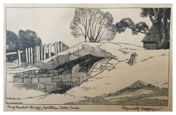 Haggar, Reginald George (1905–1988) King Harold's Bridge Waltham Cross, Essex - Trent Art