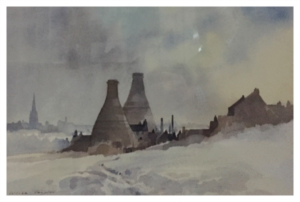 Taylor, Ivan (1946 – ) Kilns, Winter Snow - Trent Art
