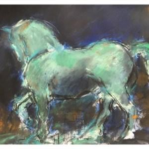 Howard, Ghislaine (1953 – ) San Marco Horse, Night Time