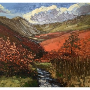 Halliday, Colin (1964 – ) Fairbrook Clough, Kinder Scout