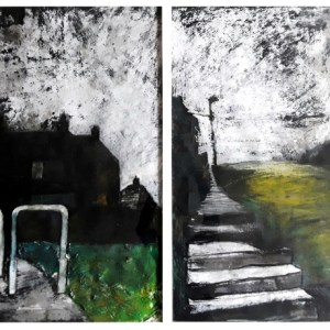 Pearsall, Ian R. (1967 – ) Morning Up (Sunshine House's, Bentilee) Diptych