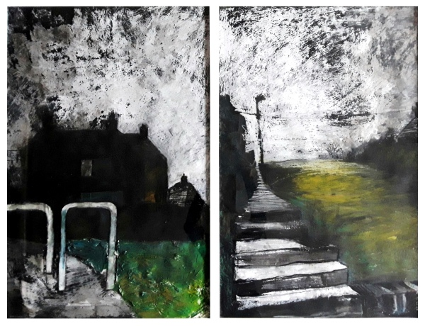 Pearsall, Ian R. (1967 – ) Morning Up (Sunshine House's, Bentilee) Diptych - Trent Art