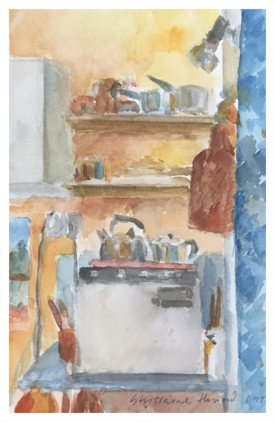 Howard, Ghislaine (1953 – ) Kettle, Pots and Pans, Russell Road - Trent Art