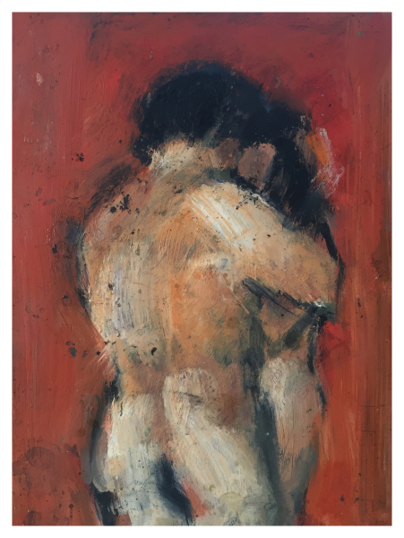 Howard, Ghislaine (1953 – ) Couple Embracing - Trent Art