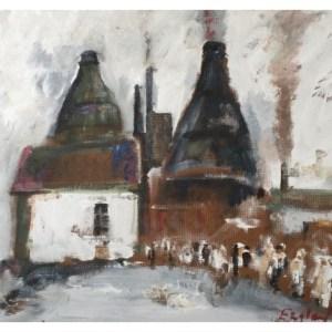 England, Frederick J NDD ATC (London) MFPS (1939 – ) Morning Shift, Daffodil Pottery