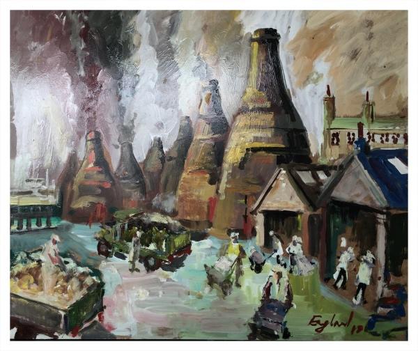 England, Frederick J NDD ATC (London) MFPS (1939 – ) Seven Sisters - Trent Art