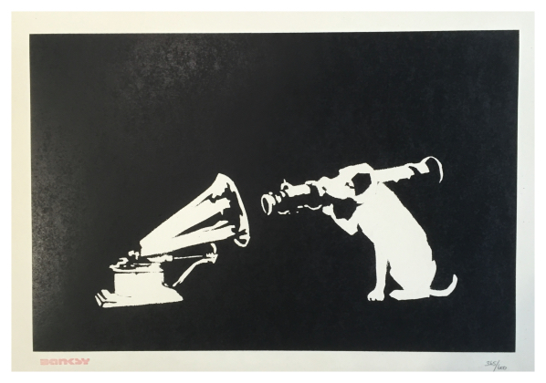 Banksy ( ) HMV His Masters Voice - Trent Art