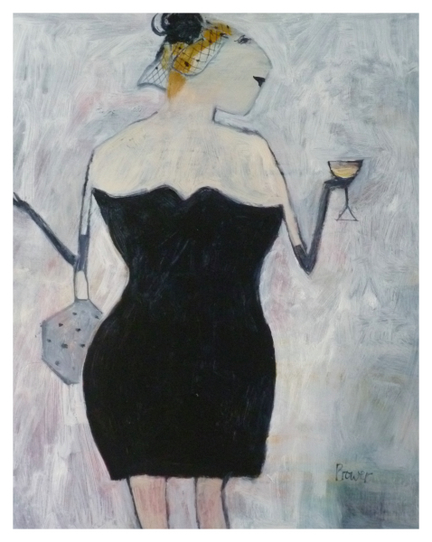 Bower, Susan RBA ROI (1953 - ) Little Black Dress - Trent Art