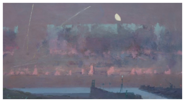 Cuming, Fred RA Hon.RBA NEAC Hon.ROI (1930 - ) Dawn, Rye Harbour Entry - Trent Art