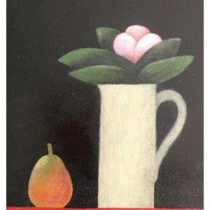 Leman, Martin RBA RWS (1934 – ) Pink Flower