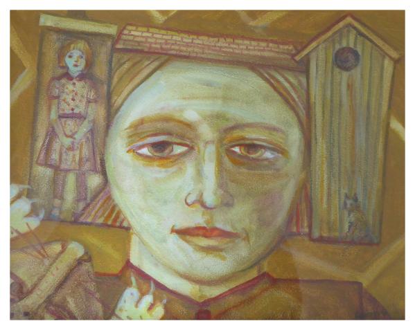 Cairns, Joyce W RSA Hon.RBA RSW MA(RCA) (1947 - ) Footdee Icon - Trent Art