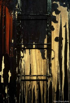 Paint drips and ladder, march 1988.