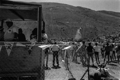Spectators at the Widowmaker Hill Climbing Races.