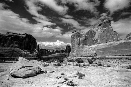 South Park Avenue in Arches National Park.