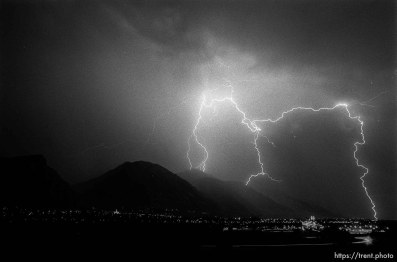 Lightning over Provo. actually 6.25.88