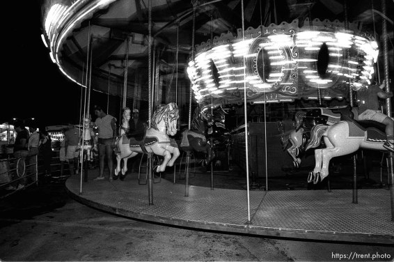 Merry-go-round at the carnival.