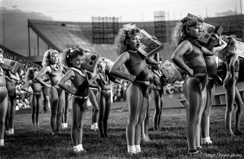 Dancers at Stadium of Fire show.