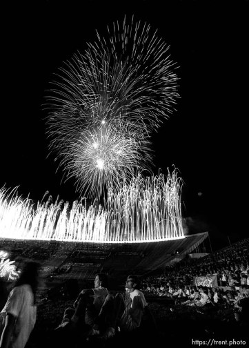 Stadium of Fire fireworks.