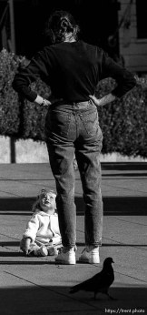 mother and child in Union Square, Sepember 1988.