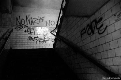 """No Nazis"" graffiti."