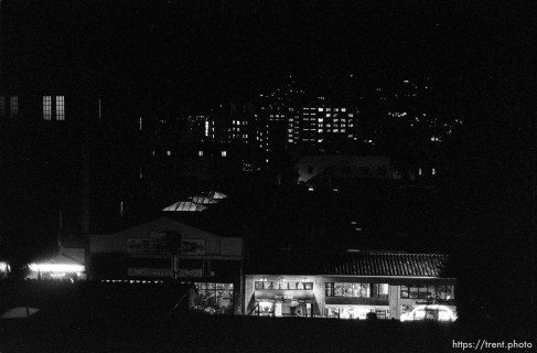 Night view of Telegraph Avenue from the parking garage.