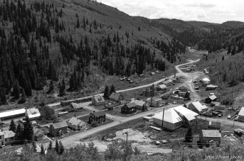 The old mining town of Scofield from a hillside.