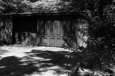 the garage at Nana's house.