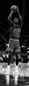 Michael Jordan at Jazz vs. Chicago basketball.