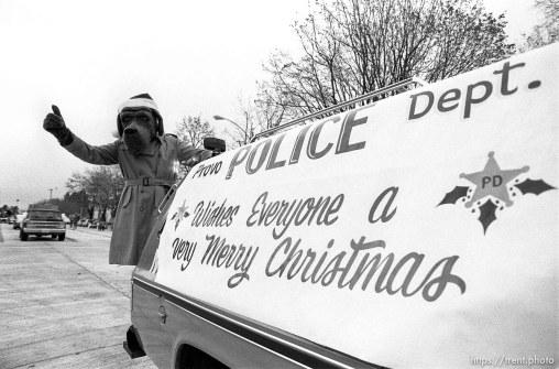 at Christmas parade.
