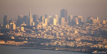 Hazy view of San Francisco