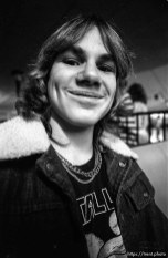 Rocker type kid at Classic Rollerskating rink.