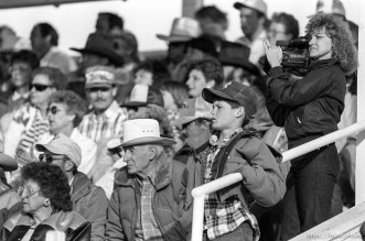 Crowd watching rodeo