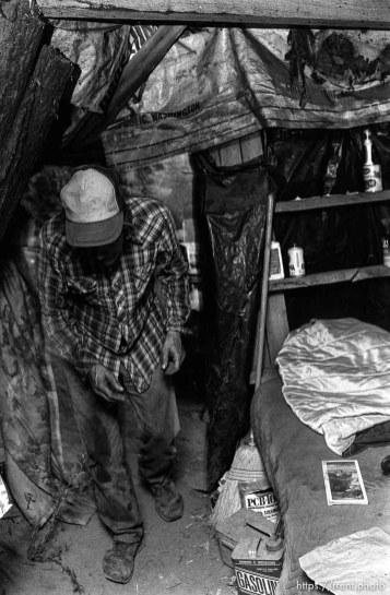 Casey in his shack