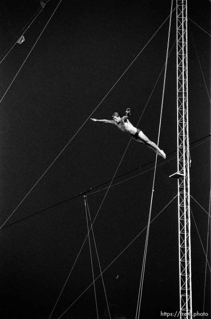 High diver at the Stadium of Fire.