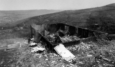 Homes burned during the Midway fire.