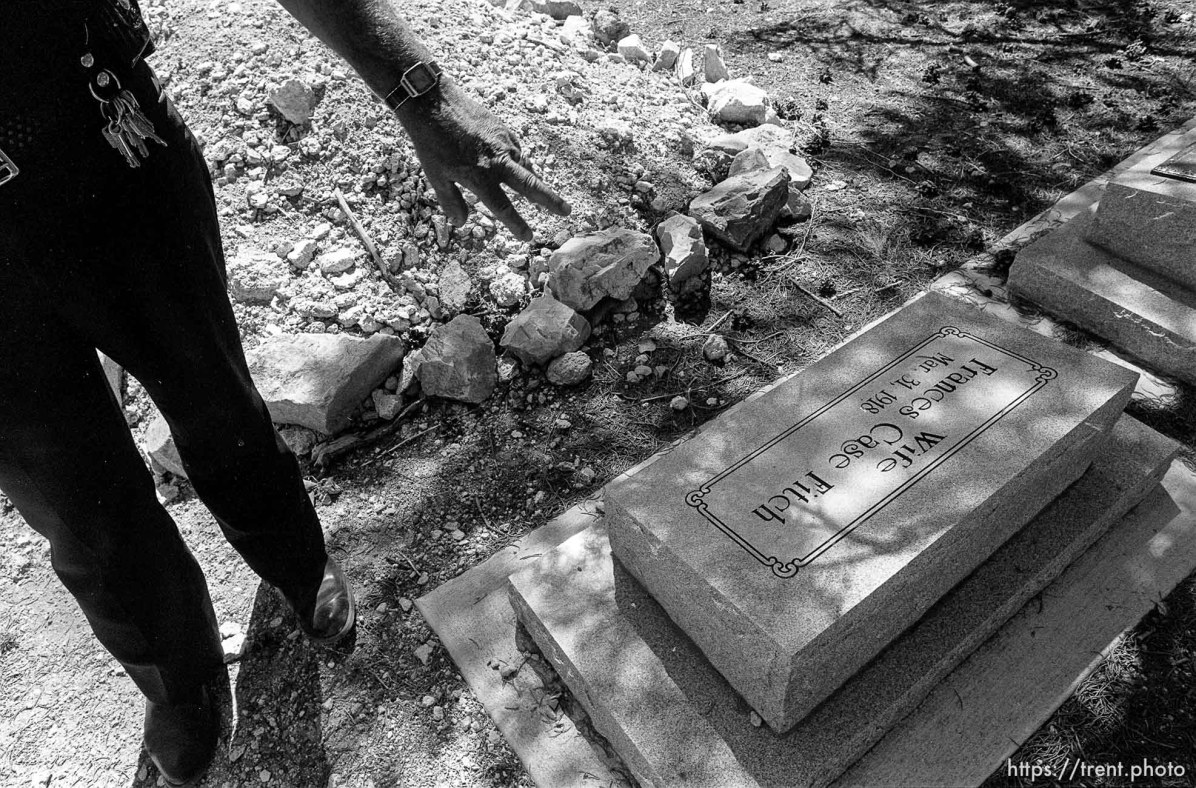 Eureka Police Chief Fullmer at secret graveyard
