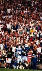 Celebration at BYU vs. Miami. BYU won.