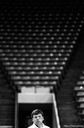 Tony Ingle at BYU basketball practice.