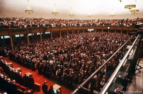 Congregation in the tabernacle at LDS General Conference