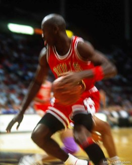 Michael Jordan at Jazz vs. Bulls.