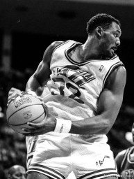 Karl Malone at Jazz vs. Detroit Pistons.