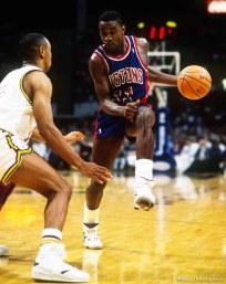 Delaney Rudd and Isaiah Thomas at Utah Jazz vs. Detroit Pistons
