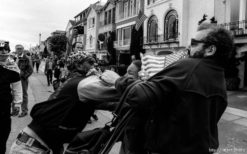Fight at Gulf War celebration parade.