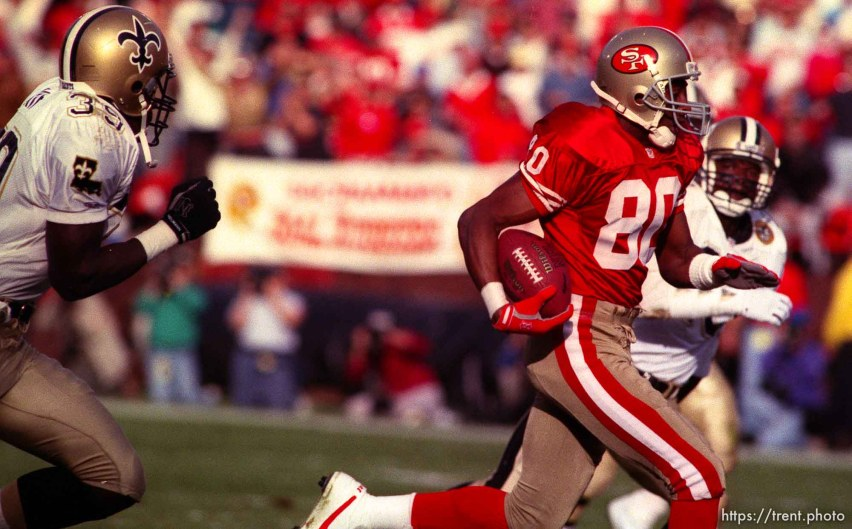 Jerry Rice. 49ers vs Saints.