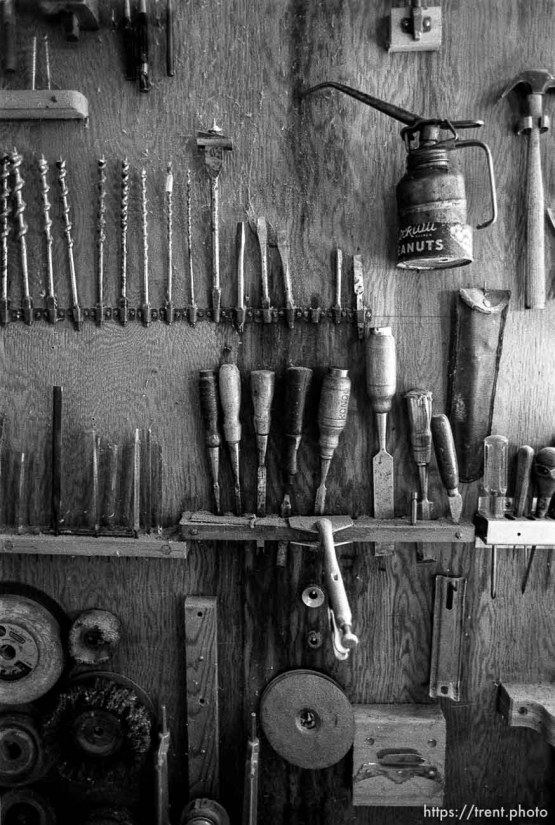Tools in Rondo's shop